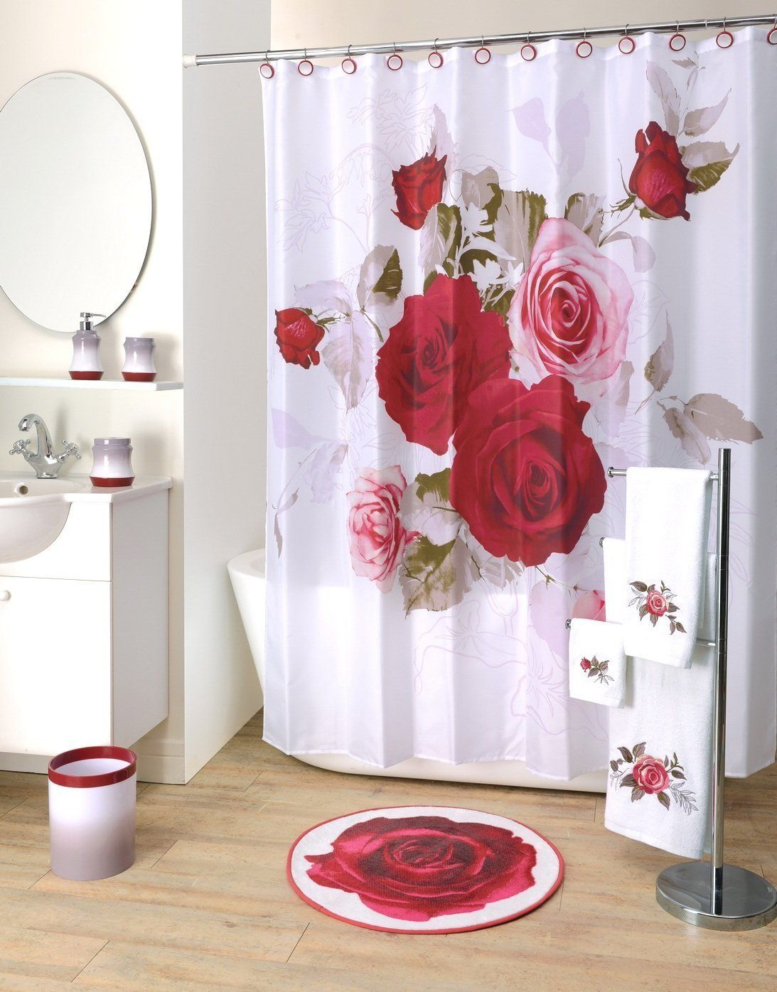 Robot Check Fabric Shower Curtains Curtains Shower Curtain