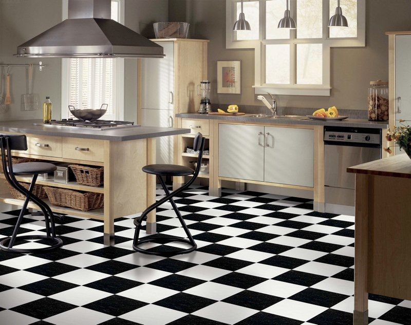 black and white vinyl sheet flooring Google Search