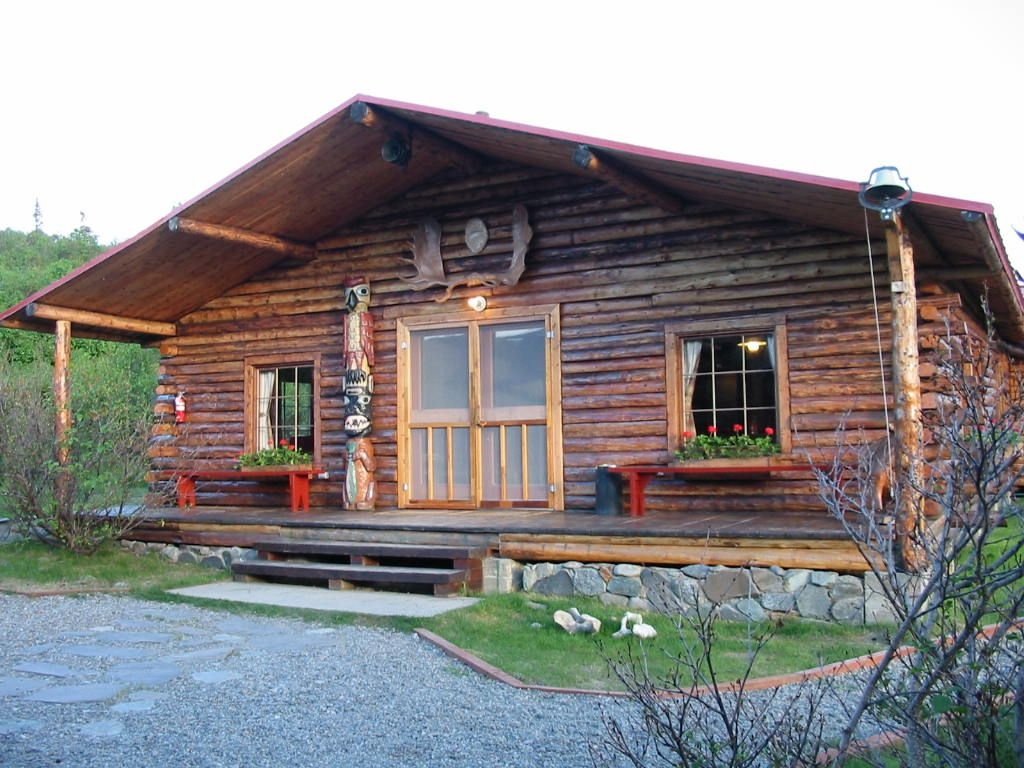 Alaskan fishing cabin
