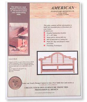 Lutyens Garden Bench Plan Woodworking