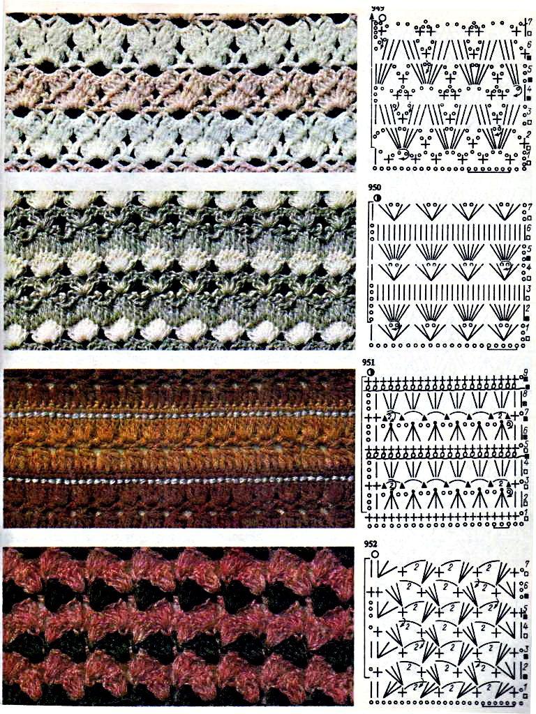 Схема цветные вязание