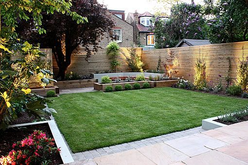 Interesting backyard garden design