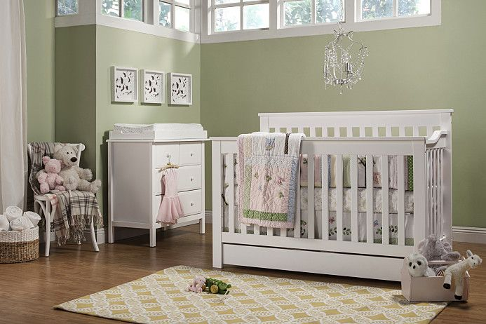Piedmont 4 In 1 Convertible Crib With Toddler Bed Conversion Kit Convertible Crib Cribs Crib Sets