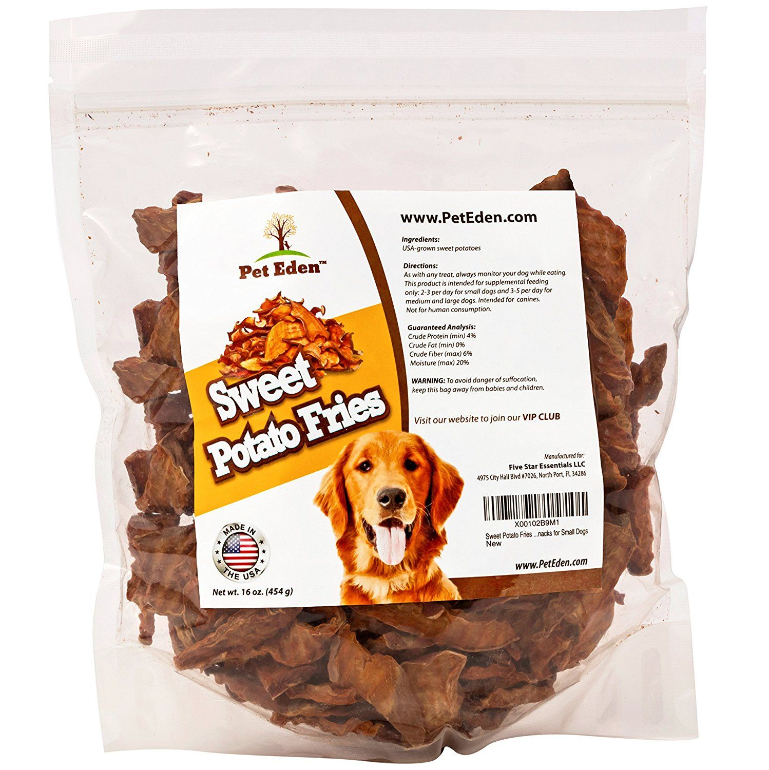 Sweet Potato Fries Dog Treats Made In Usa Only By Pet Eden Best