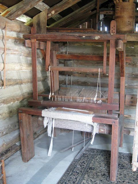 Grenier Loom Room Where Homemade Blankets Towels Etc