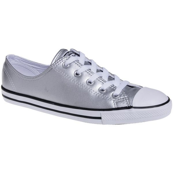 a35789040a6a Converse All Star Dainty Metallic Shoes (Silver) ( 49) ❤ liked on Polyvore  featuring shoes