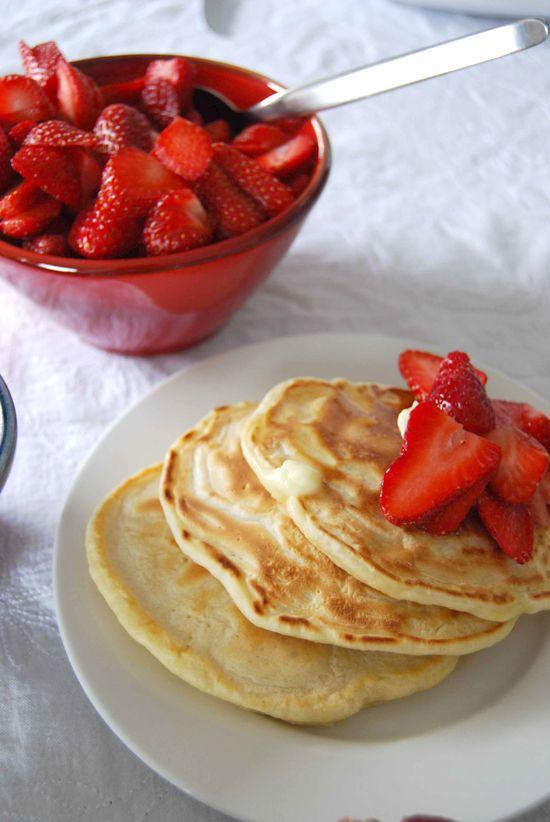 Not just pancakes, but Bambi Edlund's Mom's pancakes. #recipe