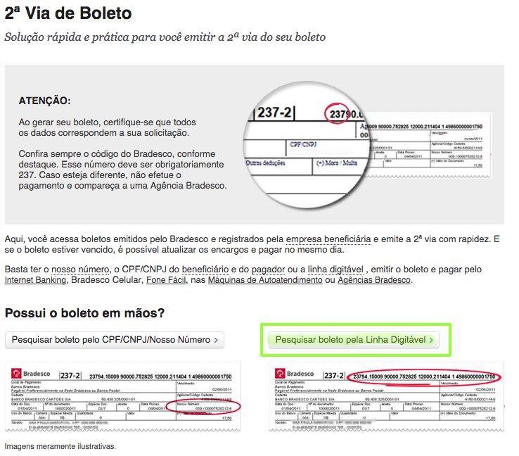 Boleto Bancario Do Cartao Casas Bahia Bradescard 2ª Via Boleto