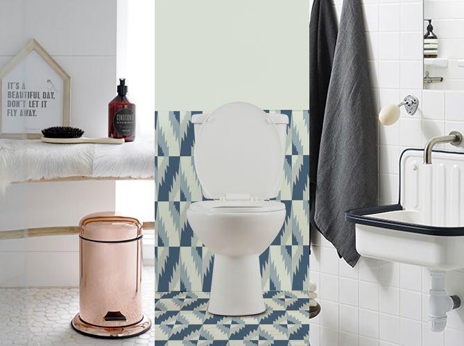 Décorer ses toilettes sans faire ringard - Elle Décoration SALLE - Comment Decorer Ses Toilettes