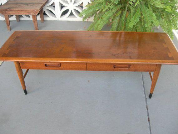Vintage Lane Acclaim Coffee Table W Full Drawer Rare By Veejayb 329 00