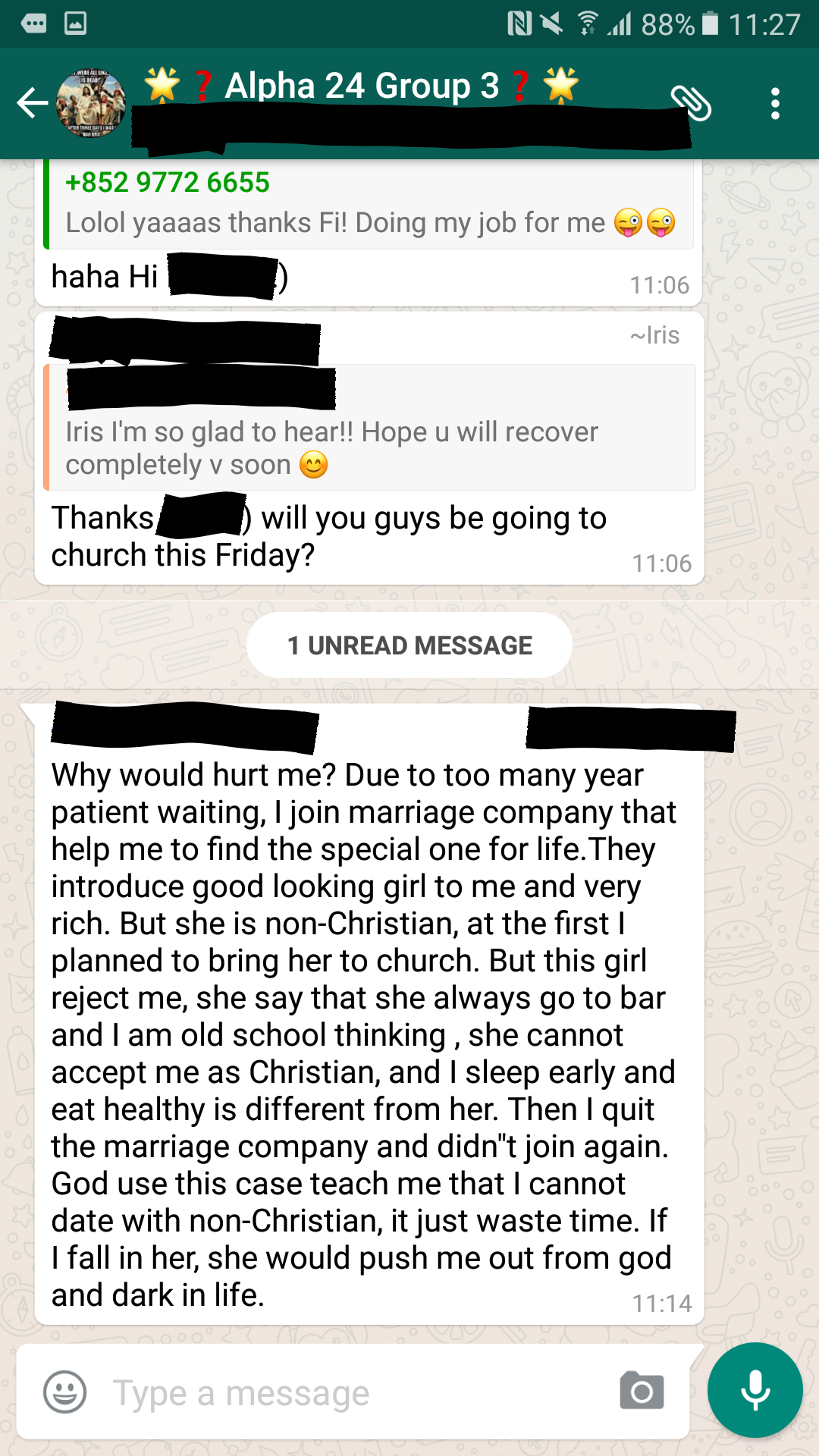 On the Church Chat group  There's always that one person   | Funny