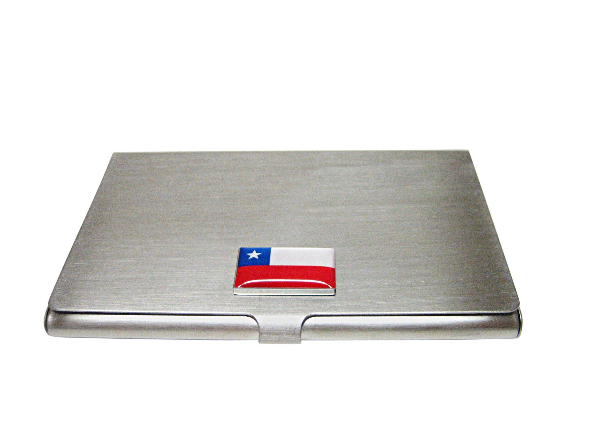 Chile Flag Pendant Business Card Holder Chile Flag Business Card