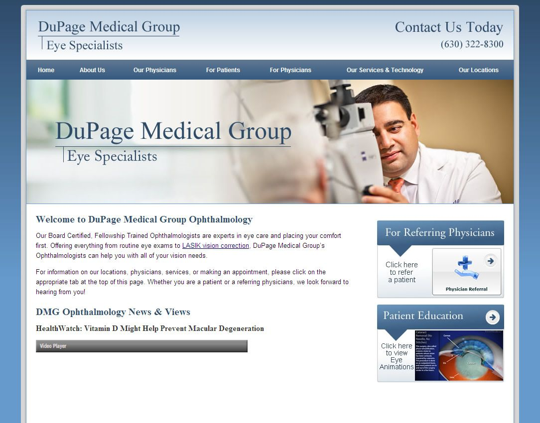 DuPage Medical Group Eye Specialist Are Board Certified