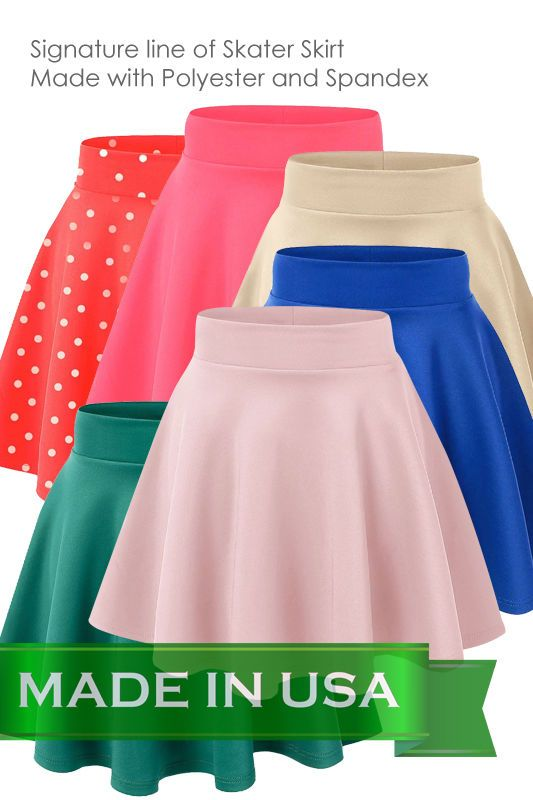 Women's Versatile Stretchy Plain Casual Mini Flared Skater Skirt-VS108 #CustomMade #FlaredSkaterSkirtVS108