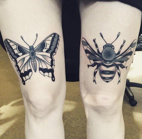 75 Cute Bee Tattoo Ideas Matching Tattoos Tattoos Butterfly