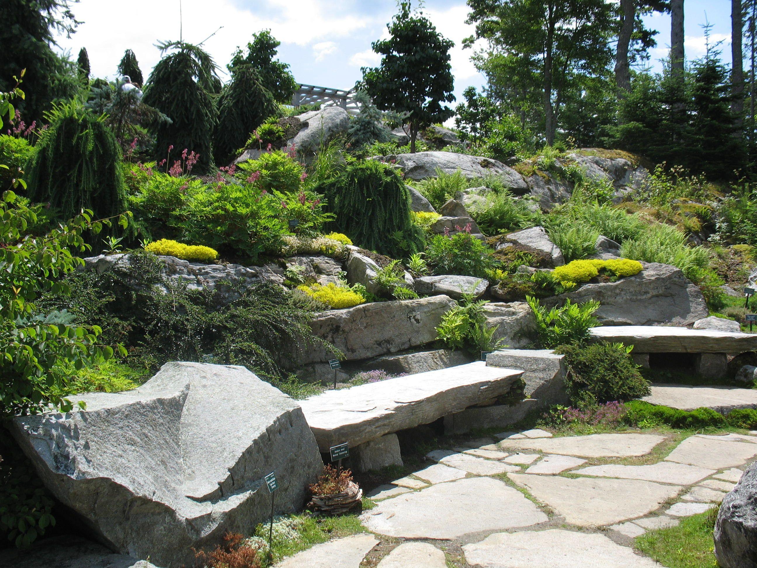 Hillside Rock Gardens Google Search Rock Garden Garden Design