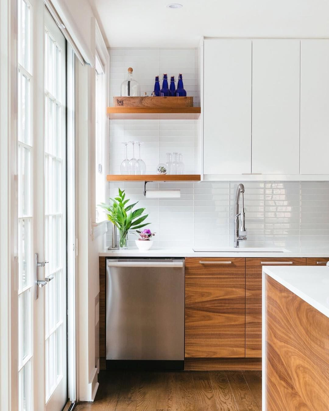 897 Likes 17 Comments Semihandmade Semihandmade On Instagram One Of Those Jobs That J Kitchen Design Small Walnut Kitchen Cabinets White Modern Kitchen