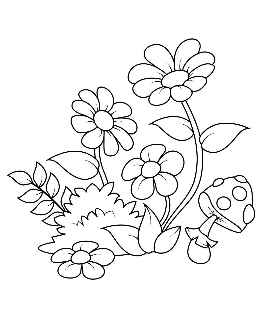 Flower Coloring Pages - Printable Coloring Book For Kids | Nuevas ...