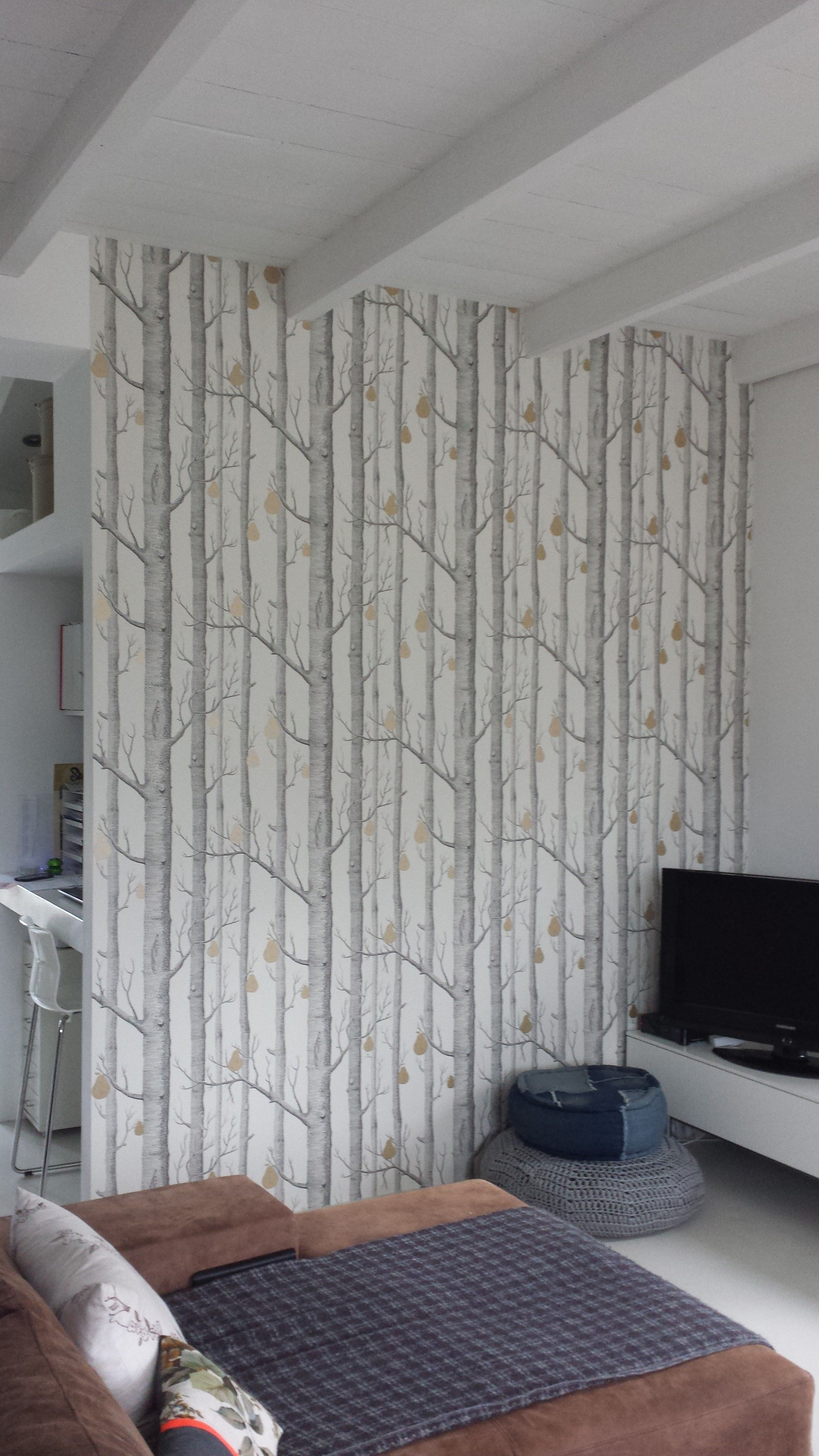 Wallpaper Woods Pears From Cole Son Home Makeover In