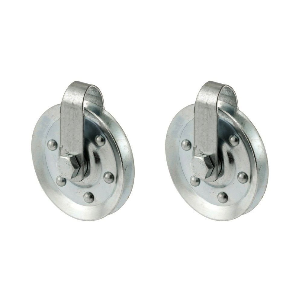 Garage Door 3 Inch Diameter Pulley With Straps And Axle Bolts 2