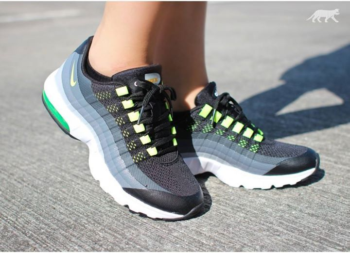 Great OTF shot of the Nike Air Max 95 Ultra Volt Womens http://