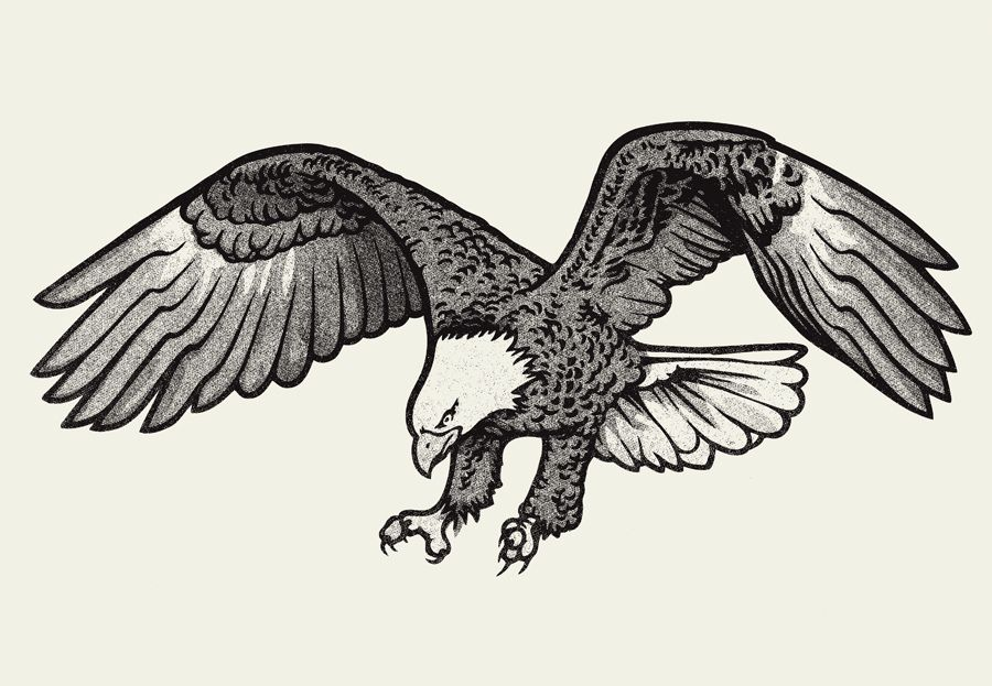 Bald Eagle Clip Art Black and White | Eagle Black And ...