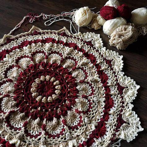 CROCHET MANDALA PATTERN/Crochet blanket Pattern/meditation blanket/mandala rug/crochet rug pattern/crochet pattern/meditation rug zen rug #crochetmandalapattern