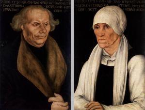 Lucas Cranach l'Ancien, Hans Luther und Margaretha Luther (Wartburg Stiftung, Eisenach)
