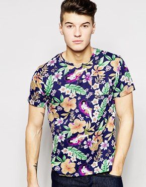 Bellfield+T-Shirt+With+Floral+Print