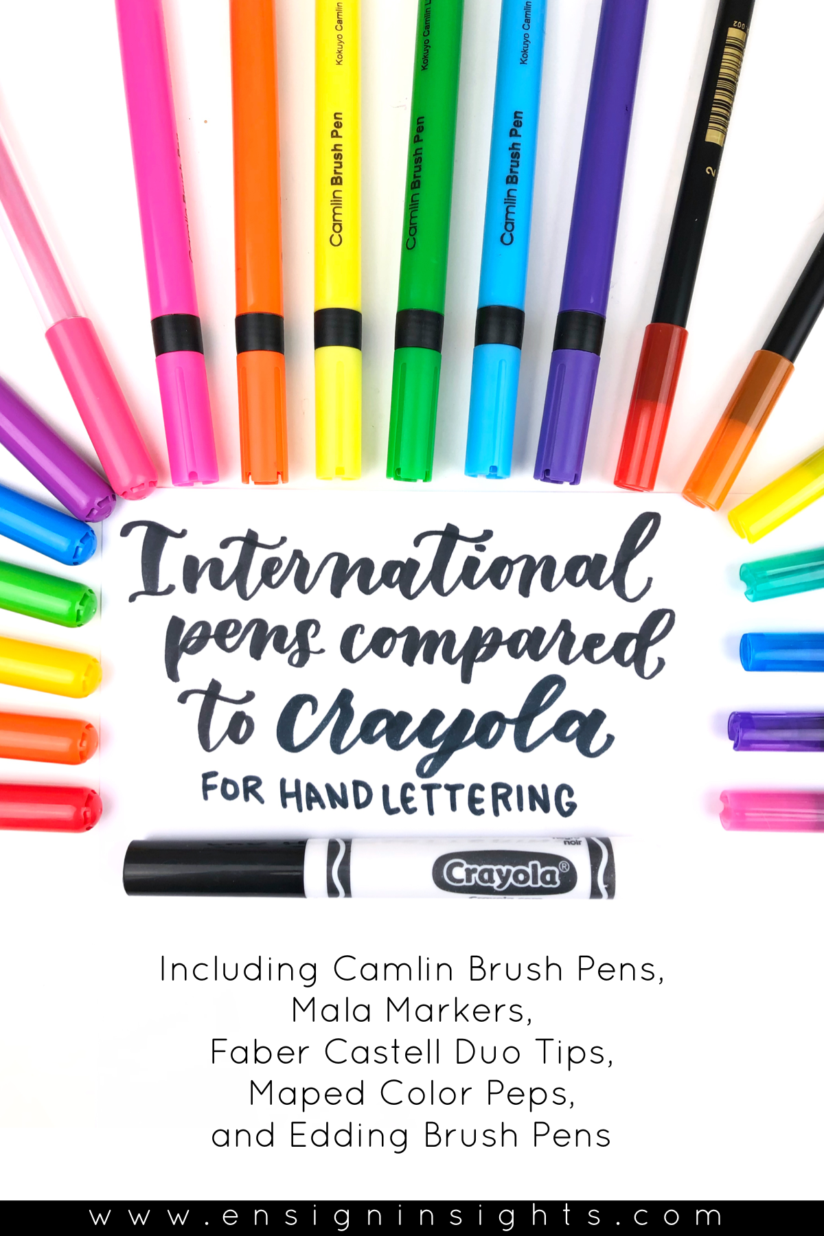 Crayola Markers For Hand Lettering Compared To