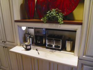 Appliance Garage Kitchen Compartment Or Cabinet Designed