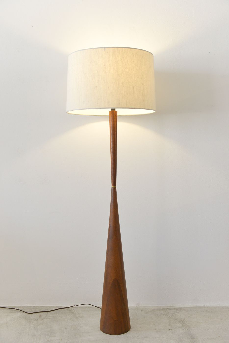 Pedestal Floor Lamps Sold Danish Modern Teak Pedestal Lamp Living Room Teak