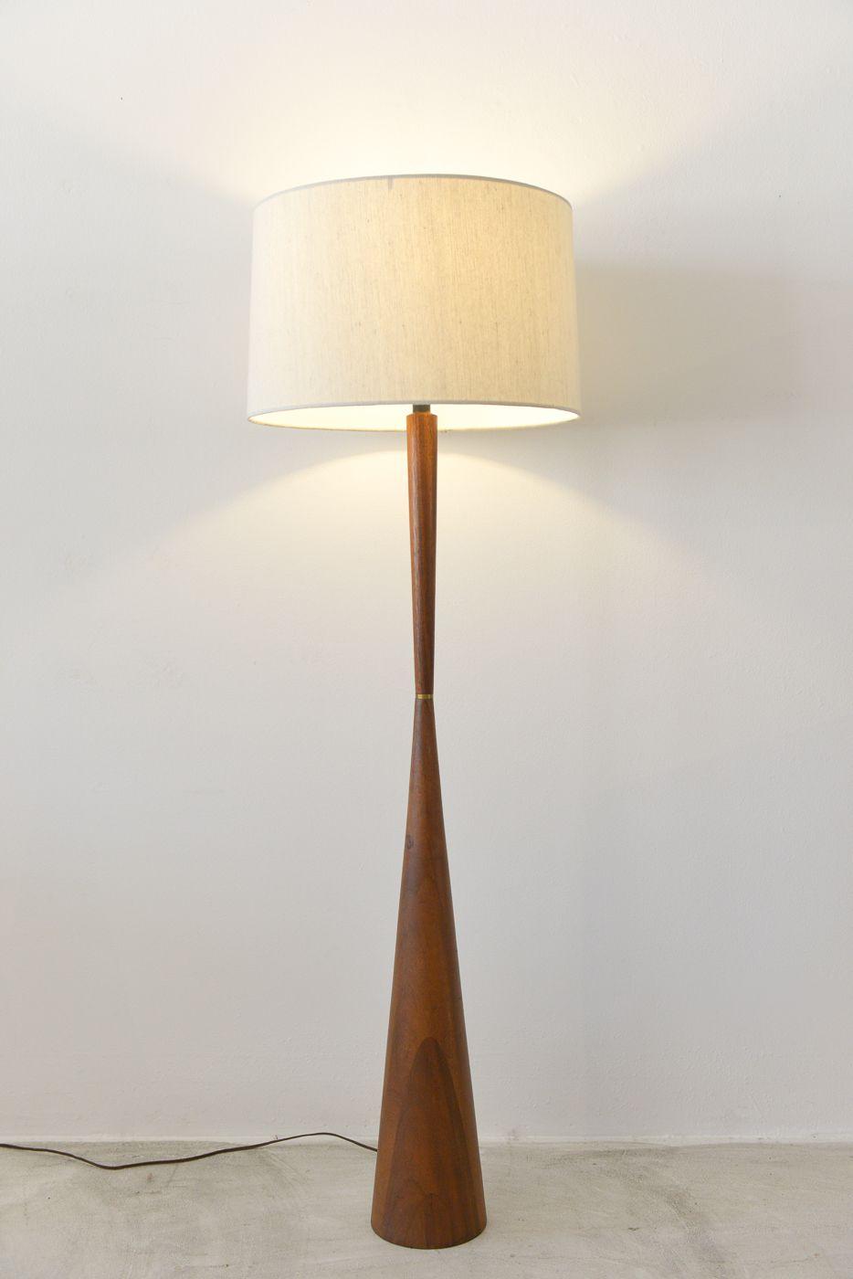 SOLD Danish Modern Teak Pedestal Lamp The Modern Vault