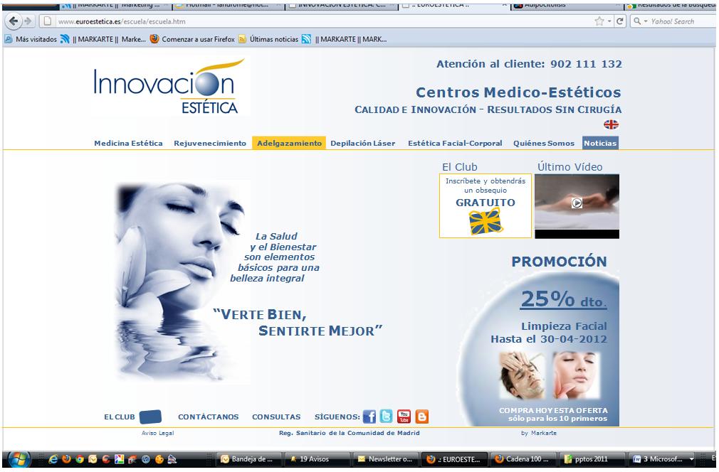 Web innovación Estética