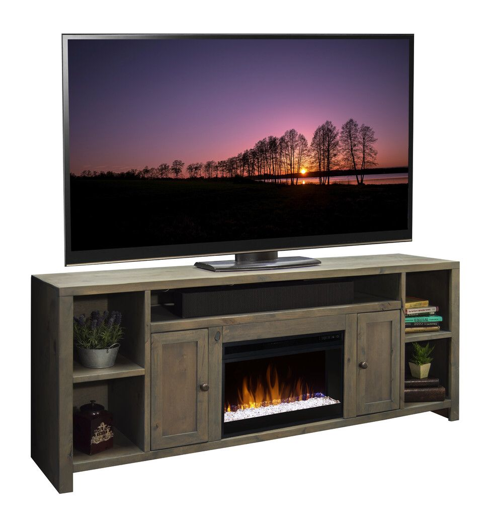 Columbus 84 Tv Stand With Electric Fireplace