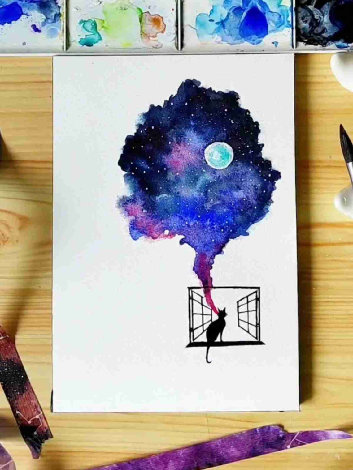 14 Easy And Pretty Watercolor Painting Watercolor Ideas For