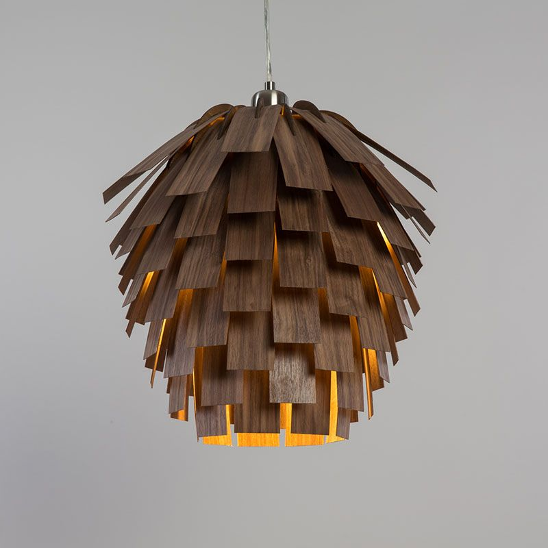 A Pine Cone Inspired Lamp By Tom Raffield Wooden Pendant Lighting Wood Pendant Light Wooden Lampshade