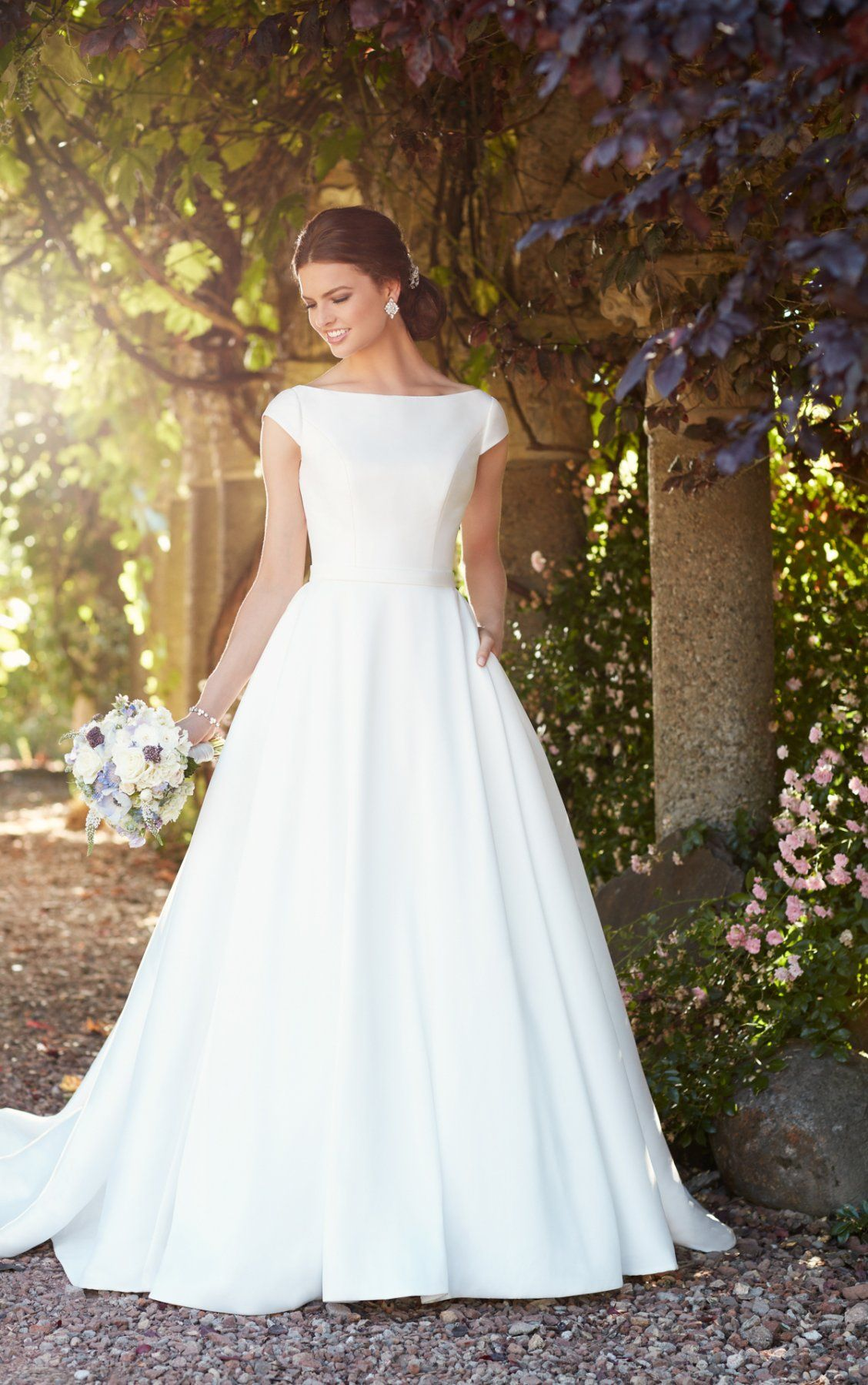 Modest Wedding Dress with Sleeves in 2020 Modest wedding