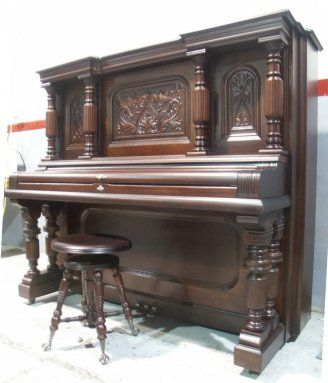 Strich zeidler mahogany upright piano handsome large for What are the dimensions of an upright piano