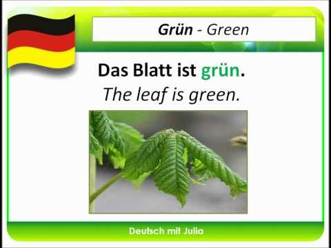 Learn German Colours 01 Farben In Deutsch Deutsch Mit Julia