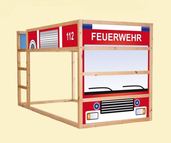 Aufkleber Fur Das Hochbett Ikea Kura Feuerwehrauto Feuerwehr