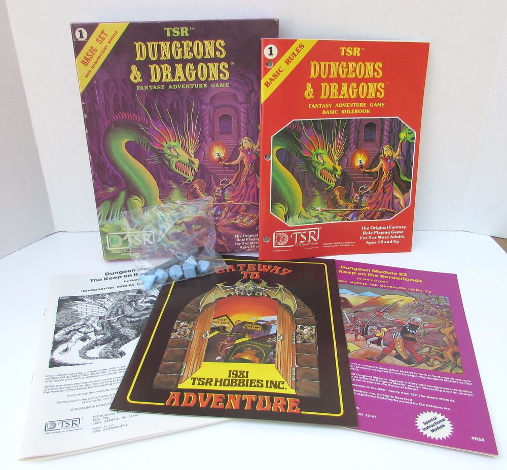 Dungeons Dragons 1011 Basic Set Sealed Dice Crayon Tsr 1980 D D Dungeons And Dragons Fantasy Adventure Dungeon