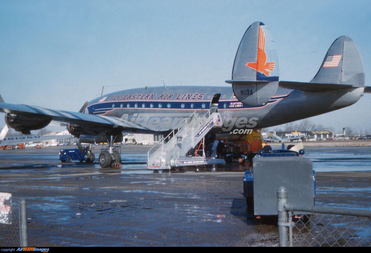 Lockheed L749A Constellation Flugzeug, Fliegerlied, Vintage