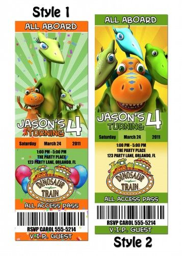 Dinosaur Train Invites Jackson S 1st Birthday Pinterest