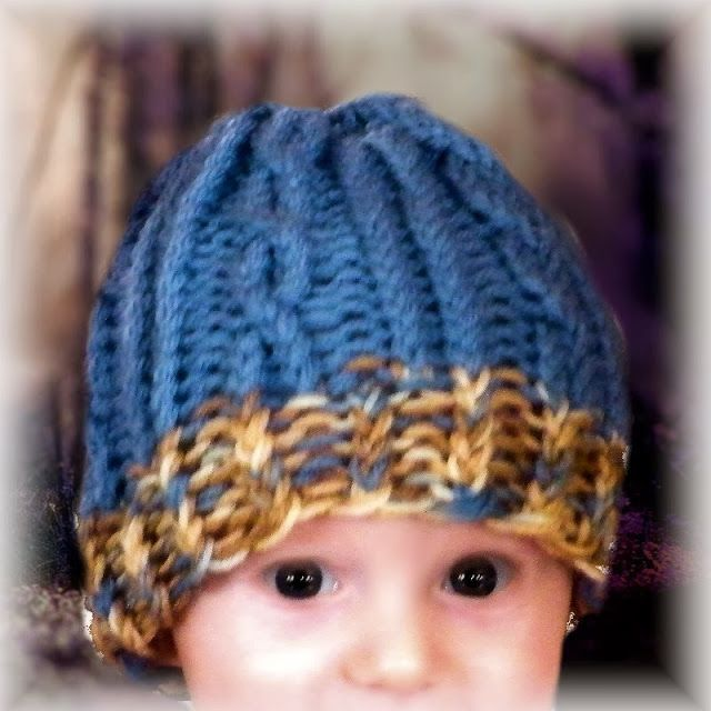 How To Knit A Baby Hat On Loom Youtube