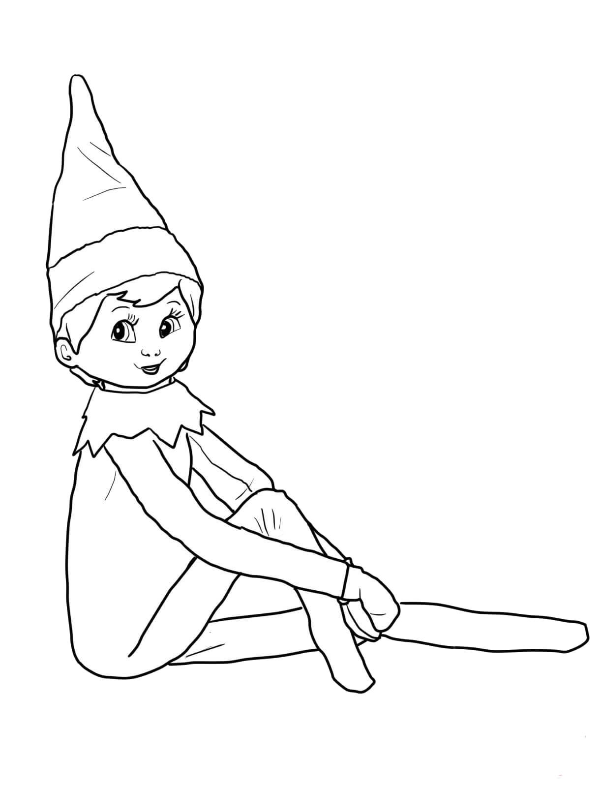 Elves Longer Sit Back Elf On The Self Christmas Elf Coloring Pages