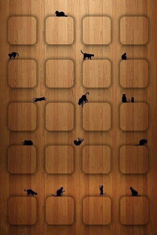 【人気82位】かわいい黒猫の棚 , iPhone壁紙