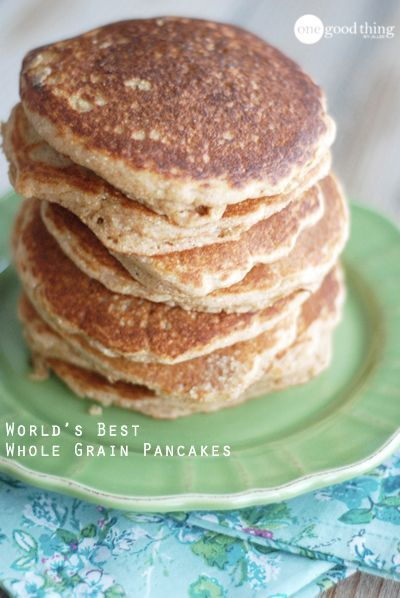 grain pancakes Research suggests that most of us don't eat half the amount of whole grains that we should! Check out this delicious and nutritious recipe for getting more healthy whole grains in your diet!Research suggests that most of us don't eat half the amount of whole grains that we should! Check out this delicious and nutritious recipe for getting mo...