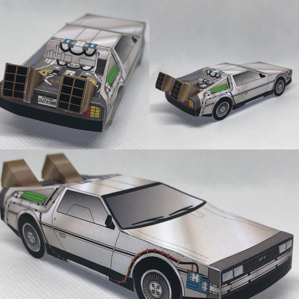 Papercraft Delorean Time Machine By Otherwld On Deviantart Delorean Time Machine Delorean Paper Crafts