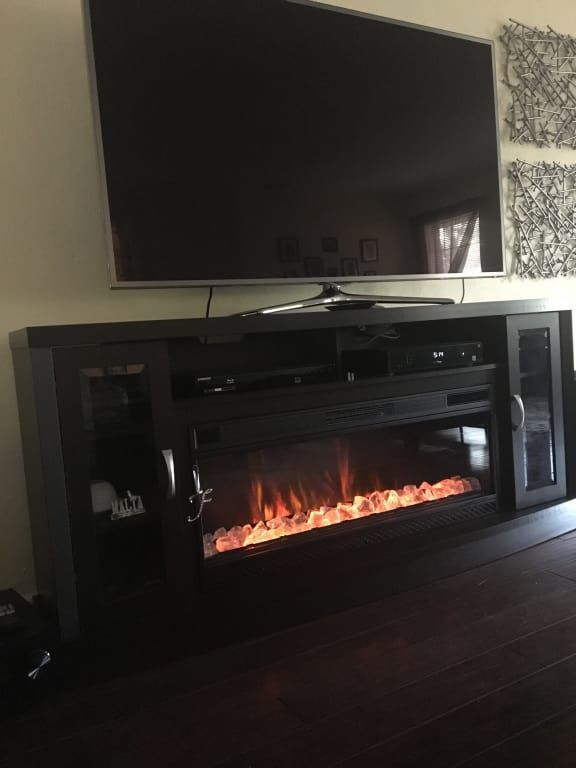 Hutchinson 70 Cabinet Oak Espresso 42 Linear Firebox 42mm3 Electric Fireplace Entertainment Center Fireplace Entertainment Center Fireplace Entertainment Tv stand with fireplace for 70 inch tv
